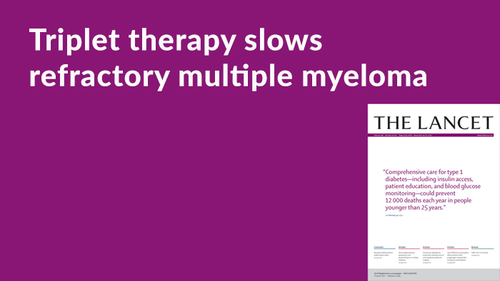 Once-weekly Regimen of Selinexor, Bortezomib, and Dexamethasone Slows Progression of RRMM