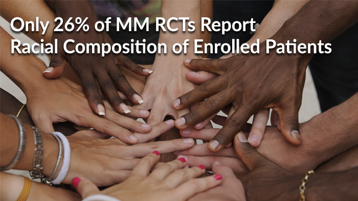 Only 26% of MM RCTs Report Racial Composition of Enrolled Patients